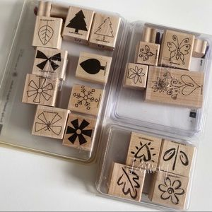 STAMPIN UP Assorted Outdoor Floral Tree Butterfly